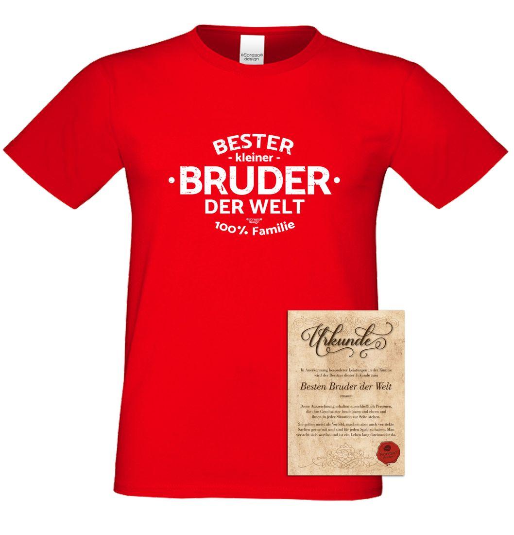 Family T-Shirt - Bester kleiner Bruder der Welt - Hemd Geschenk ...