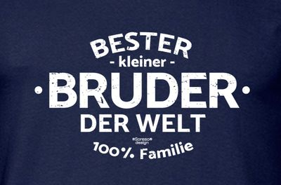Family T-Shirt - Bester kleiner Bruder der Welt - lustiges Hemd als passendes Geschenk oder Outfit für Brüder - blau 1 Bild 3