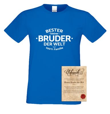 Family T-Shirt - Bester kleiner Bruder der Welt - lustiges Hemd als passendes Geschenk oder Outfit für Brüder - blau 2 Bild 2