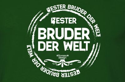 Family T-Shirt - Bester Bruder der Welt - bedrucktes Hemd als passendes Geschenk oder Outfit für Brüder - grün 1 Bild 3