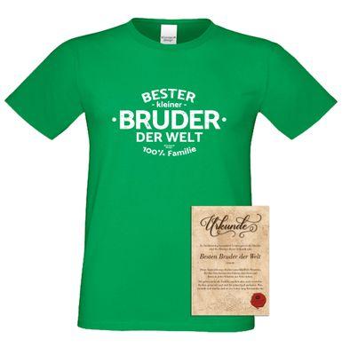 Family T-Shirt - Bester kleiner Bruder der Welt - lustiges Hemd als passendes Geschenk oder Outfit für Brüder - grün 3 Bild 2