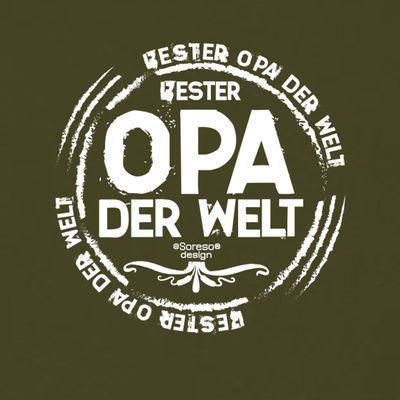 Family T-Shirt - Bester Opa der Welt - bedrucktes Hemd als passendes Geschenk oder Outfit für Deinen Großvater - grün 2 Bild 3