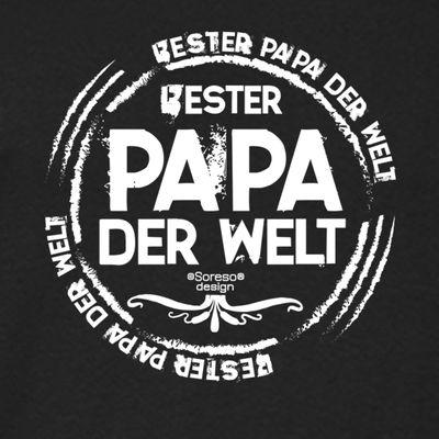 Family T-Shirt - Bester Papa der Welt - Hemd als passendes Geschenk oder Outfit für Deinen Vater - schwarz Bild 3