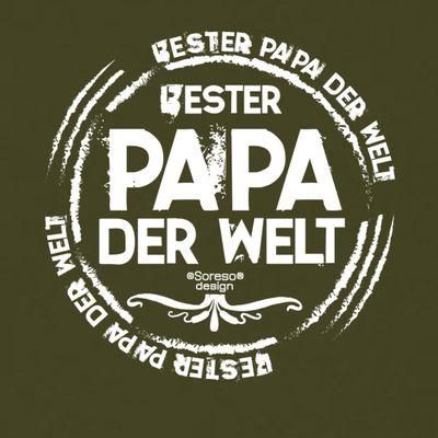 Family T-Shirt - Bester Papa der Welt - Hemd als passendes Geschenk oder Outfit für Deinen Vater - grün 2 Bild 3
