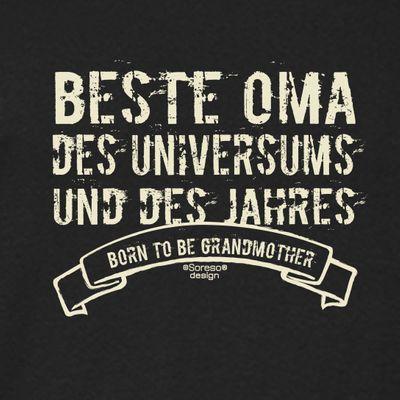 Family Damen T-Shirt - Beste Oma des Universums - bedrucktes Damenshirt Geschenk Outfit für die Großmutter - schwarz Bild 2