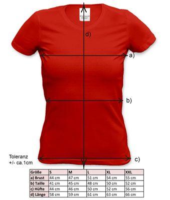 Family Damen T-Shirt - Beste Oma der Welt - bedrucktes Damenshirt als Geschenk oder Outfit für Deine Großmutter - rot Bild 3