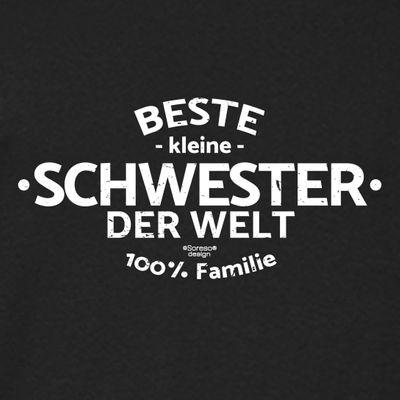 Family Damen T-Shirt - Beste kleine Schwester der Welt - Damenshirt als Geschenk für die Lieblingsschwester - schwarz Bild 2