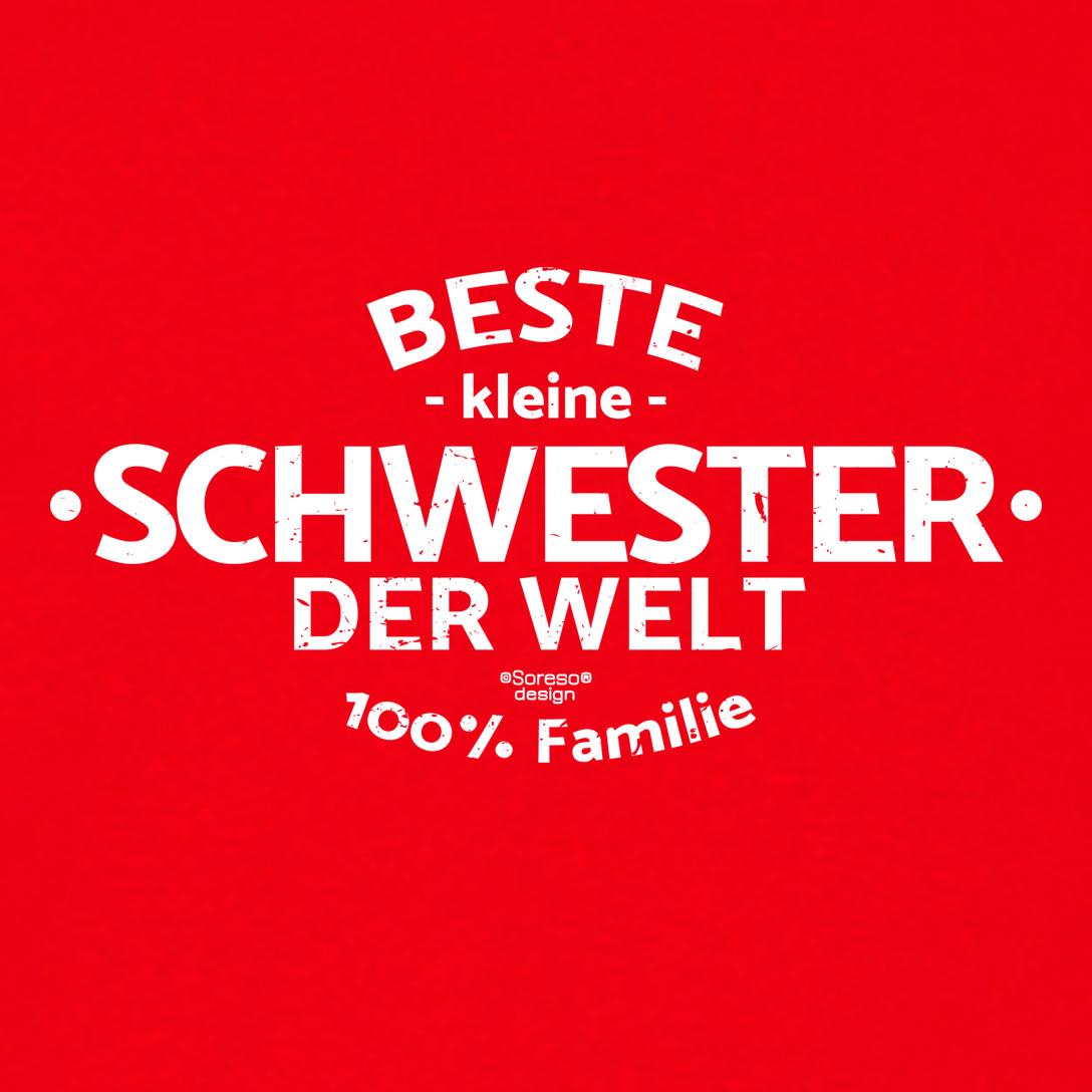 Damen T Shirt Beste Kleine Schwester Der Welt Damenshirt
