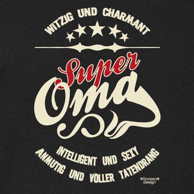 Family Damen Langarmshirt - Super Oma - bedruckter Lady Longsleeve Geschenk oder Outfit für die Großmutter - schwarz Bild 2