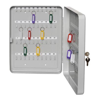 Schlüsselkasten aus Stahlblech DR-Büro 1910 - für 42 Schlüssel - Maße 16x8x20 cm - Haken sind nummeriert - innen und außen kratzfest - inkl. Montagematerial – Bild 1