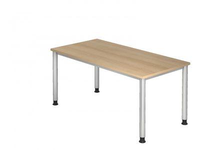 DR-Büro Bürotisch - Größe 160 x 80 cm - Stahlgestell in silber - Schreibtisch höhenverstellbar 68 - 76 cm - Tisch in 7 Farbvarianten – Bild 7