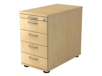 DR-Büro Standcontainer mit Zentralverriegelung - Maße 42,8 x 80 x 72-76 cm - Container in 7 Farben erhältlich - eine Materialschublade und 4 Schubladen – Bild 3