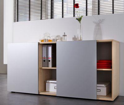 DR-Büro Sideboard Solis - Büroschrank mit Schwebetüren - Board mit den Maßen 160 x 42 x 74,8 cm - in 5 Farben lieferbar – Bild 7