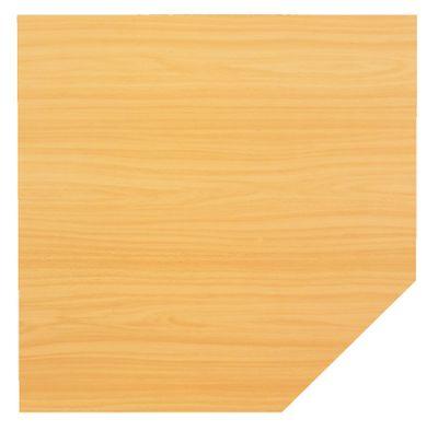 Verkettungsplatte DR-Büro - Anbauplatte für Schreibtische - Maße: 120 x 120 cm - Arbeitshöhe: 68 - 85 cm - in 7 Farben - Trapezplatte mit Stützfuß - incl. Montagezubehör – Bild 7