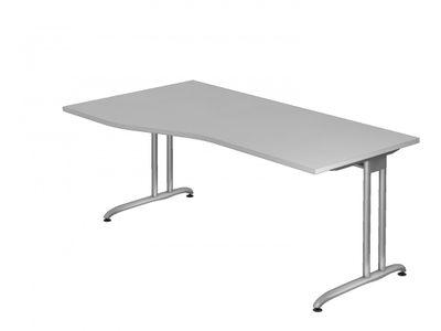 DR-Büro Bürotisch - Maße 180 x 100 cm - Stahlgestell in silber - Schreibtisch mit einer Arbeitshöhe von 72 cm - links/rechts montierbar - in 7 Farbvarianten lieferbar – Bild 3