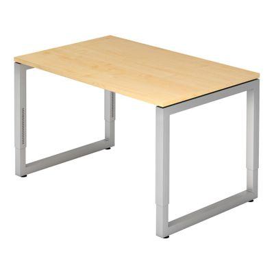 DR-Büro Bürotisch höhenverstellbar von 65-85 cm - Schreibtisch mit den Maßen 120 x 80 cm - in 7 Farben lieferbar - Stahlgestell in silber - sehr stabile Konstruktion  – Bild 1