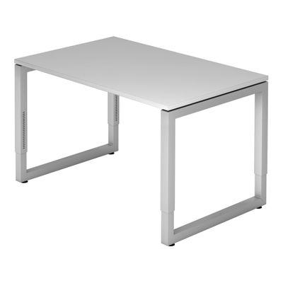 DR-Büro Bürotisch höhenverstellbar von 65-85 cm - Schreibtisch mit den Maßen 120 x 80 cm - in 7 Farben lieferbar - Stahlgestell in silber - sehr stabile Konstruktion  – Bild 4