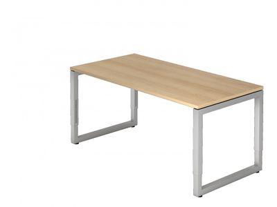 DR-Büro Bürotisch höhenverstellbar von 65-85 cm - Schreibtisch mit den Maßen 160 x 80 cm - in 7 Farben lieferbar - Stahlgestell in silber - sehr stabile Konstruktion  – Bild 1