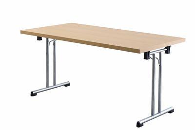 Tragbarer Klapptisch Hammerbacher - Maße 160 x 80 cm - in 2 unterschiedlichen Farbtönen - Höhe Arbeitsfläche 73,5 cm - leicht klappbar – Bild 2