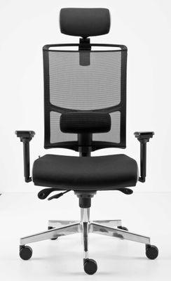 Bürostuhl Hammerbacher Premium2 - Bürodrehstuhl mit Synchronmechanik - Drehstuhl mit verstellbaren Armlehnen - ergonomischer Chefsessel mit Netzrücken - Lordosen und Lendenwirbelstütze – Bild 2