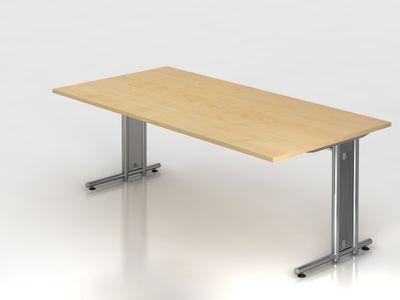 Blende für Schreibtisch DR-Büro N-Serie - aus Lochblech, inkl. horizontaler Kabelwanne - vertikale Kabelführung möglich – Bild 3