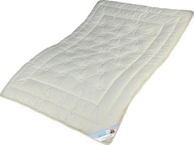 Zirbe Bettdecke Modicana - Extra leichte Sommer Decke mit KBT Merino Füllung und Zirbenholz Spänen 001