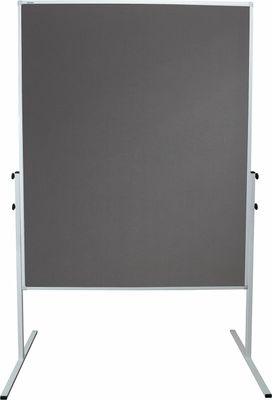 Moderationstafel mit Filzbezug DR-Büro - Pinnwand beidseitig verwendbar - Tafelfläche 120 x 150 cm - Rahmen aus Metall – Bild 3