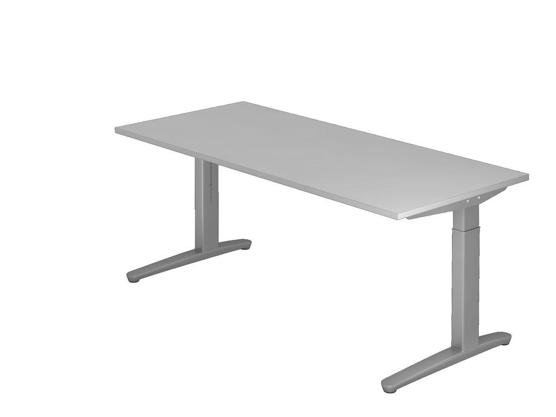 schreibtisch dr b ro serie xb ma e 180 x 80 cm gestell silber h henverstellbar. Black Bedroom Furniture Sets. Home Design Ideas