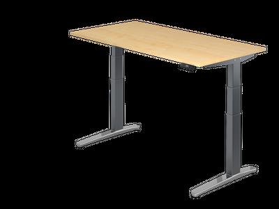 Steh Sitz Schreibtisch DR-Büro Serie XBHM - 160 x 80 - Gestell Graphit - elektrisch höhenverstellbar - 2 Motoren – Bild 3