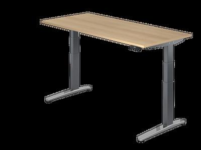 Steh Sitz Schreibtisch DR-Büro Serie XBHM - 180 x 80 - Gestell Graphit - elektrisch höhenverstellbar - 2 Motoren – Bild 2