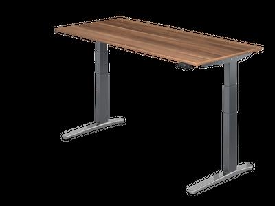 Steh Sitz Schreibtisch DR-Büro Serie XBHM - 180 x 80 - Gestell Graphit - elektrisch höhenverstellbar - 2 Motoren – Bild 8