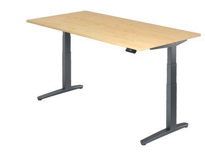 Steh Sitz Schreibtisch DR-Büro Serie XBHM - 200 x 100 - Gestell Graphit - elektrisch höhenverstellbar - 2 Motoren – Bild 3