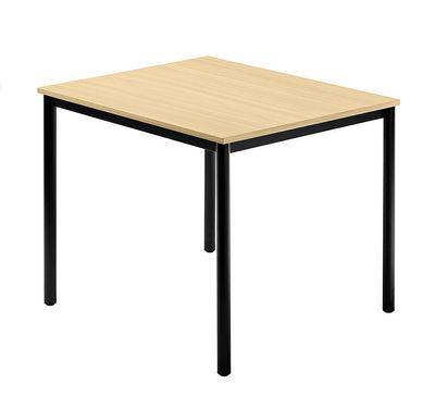 Besprechungstisch Hammerbacher Serie D - 80 x 80 cm - kombinierbares Tischsystem in 3 Farben - schwarzer Tischfuß, rund - Meetingtisch Höhe 72 cm  – Bild 4