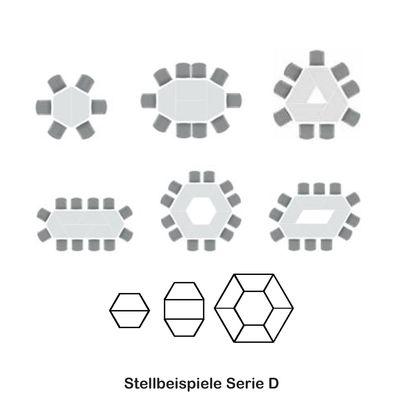 Besprechungstisch DR-Büro Serie D - 160 x 69 cm - 3 Farbvarianten - Meetingtisch Höhe einstellbar 72 cm – Bild 6