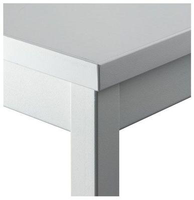 Besprechungstisch Hammerbacher Serie V - 80 x 80 cm - kombinierbares Tischsystem in grau - Rechteckrahmen Vierkantfuß - Meetingtisch Höhe 72 cm  – Bild 3