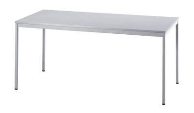 Besprechungstisch Hammerbacher Serie V - 160 x 80 cm - kombinierbares Tischsystem in grau - Rechteckrahmen Vierkantfuß - Meetingtisch Höhe 72 cm  – Bild 2