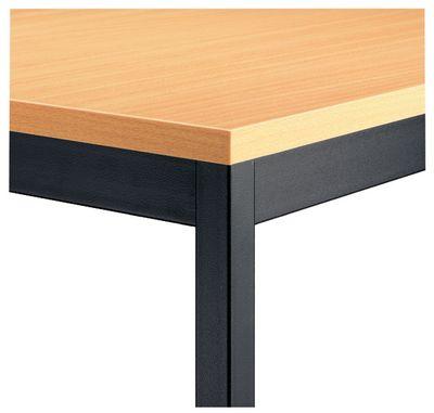 Besprechungstisch DR-Büro Serie V - 160x69cm - Tischsystem erweiterbar Buche - Meetingtisch Höhe 72cm – Bild 4