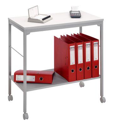 Aktenwagen, Beistellwagen DR-Büro - Maße 73,5 x 40 x 72 cm - mobiler Etagenwagen mit Rollen - Metallgestell grau - 1 Ordnerhöhe – Bild 1