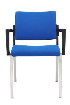 Besprechungsstuhl DR-Büro Serie SB - Konferenzstuhl 2er Set - stapelbar - 2 Farben - Gestell verchromt – Bild 1