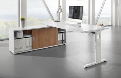 DR-Büro Sideboard V1758S - Board mit den Maßen 160 x 40 x 59,6 cm - verschiedene Aufbauvarianten - Büroschrank in 4 Farbtönen - Schiebetürenschrank – Bild 7