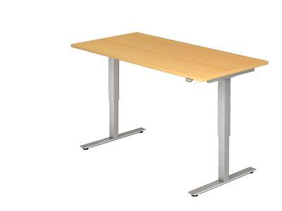 DR-Büro Steh-Sitzschreibtisch elektrisch höhenverstellbar bis max. 119 cm - Maße 180 x 80 cm - silberfarbenes Stahlgestell - Bürotisch in 7 Farbvarianten erhältlich – Bild 3