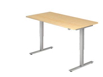 DR-Büro Steh-Sitzschreibtisch elektrisch höhenverstellbar bis max. 119 cm - Maße 180 x 80 cm - silberfarbenes Stahlgestell - Bürotisch in 7 Farbvarianten erhältlich – Bild 7