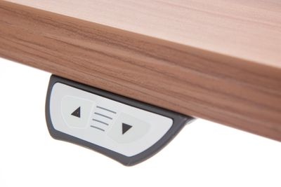 DR-Büro Steh-Sitzschreibtisch elektrisch höhenverstellbar bis max. 119 cm - Maße 180 x 80 cm - silberfarbenes Stahlgestell - Bürotisch in 7 Farbvarianten erhältlich – Bild 10