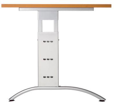 DR-Büro Schreibtisch mit silbernem Stahlgestell - 200 x 120 cm - Arbeitshöhe bis 85 cm - Bürotisch in 7 Farben - verkettbar - 2 Kabeldosen – Bild 9