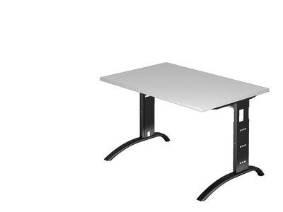 DR-Büro Schreibtisch mit schwarzem Stahlgestell - 120 x 80 cm - Arbeitshöhe 65 - 85 cm - Bürotisch in 7 Farben lieferbar - verkettbar – Bild 5