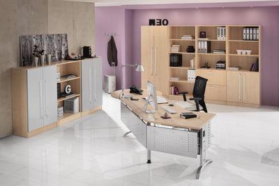 DR-Büro Schreibtisch mit schwarzem Stahlgestell - 200 x 100 cm - Arbeitshöhe 65 - 85 cm - Bürotisch in 7 Farben lieferbar – Bild 10