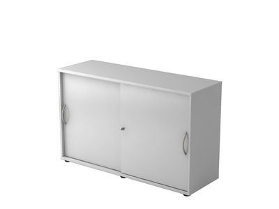 Abschließbarer Schiebetürenschrank DR-Büro  - Aktenschrank in 2 Ordnerhöhen - Maße 120 x 40 x 74,8 cm - in 5 Farbvarianten erhältlich - Höhe einstellbar – Bild 3