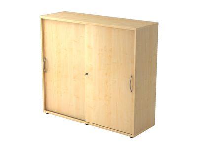 Abschließbarer Schiebetürenschrank DR-Büro  - Aktenschrank in 3 Ordnerhöhen - Maße 120 x 40 x 110 cm - in 5 Farbvarianten erhältlich - Höhe einstellbar – Bild 2