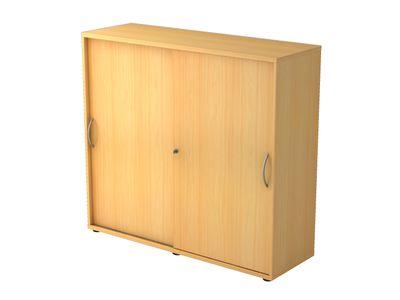 Abschließbarer Schiebetürenschrank DR-Büro  - Aktenschrank in 3 Ordnerhöhen - Maße 120 x 40 x 110 cm - in 5 Farbvarianten erhältlich - Höhe einstellbar – Bild 4