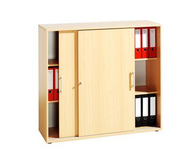 Abschließbarer Schiebetürenschrank DR-Büro  - Aktenschrank in 3 Ordnerhöhen - Maße 120 x 40 x 110 cm - in 5 Farbvarianten erhältlich - Höhe einstellbar – Bild 7